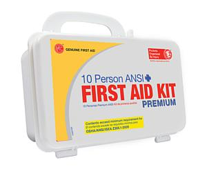 10 Person ANSI/OSHA First Aid Kit, Plastic Case PREMIUM