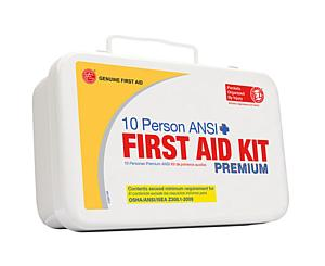 10 Person ANSI/OSHA First Aid Kit, Weather Proof Metal Case PREMIUM