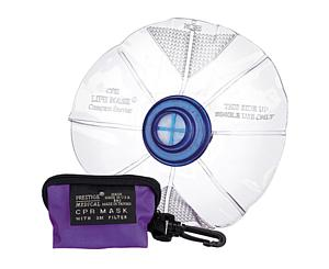 CPR Mask Lifemask in Keychain Bag, Adult, Purple