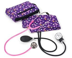 Aneroid Sphygmomanometer / Clinical I Stethoscope Kit, Adult, Love and Believe, Print