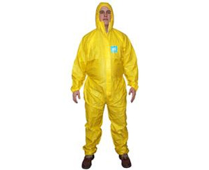 MicroChem 2000 Plus Coverall w/ Hood, Yellow