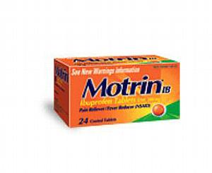 Motrin IB 200 mg - 100 Caplets , Bottle of 100