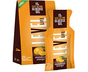 Level One Glucose Glutose Gel, 15g, 3/PK, Mandarin Orange Box