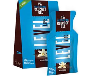 Level One Glucose Glutose Gel, 15g, 3/PK, Vanila
