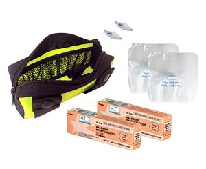 Fully Stocked Naloxone Double Kit in Yellow Pouch
