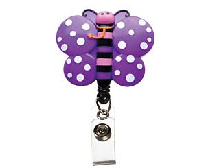 Deluxe Retracteze ID Holder, Butterfly, Print
