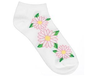 Bamboo Nurse Socks, Bamboo Daisy, Print