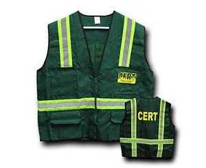 C.E.R.T. Safety Jacket / Vest w/ Reflective Stripes