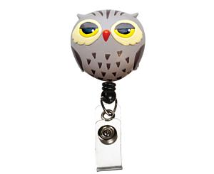 Deluxe Retracteze ID Holder, Owl, Print