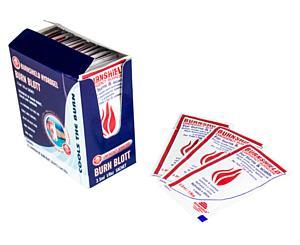 Burn Gel Blotts Satchets, 3.5mL / 1/8oz, Dispenser Pack / 25