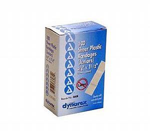 "Adhesive Junior Plastic Bandages, 40 pcs, 3/8"" x 1.5"