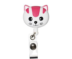 Deluxe Retracteze ID Holder, Cat, Print