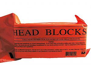 Disposable Foam Head Blocks w/ Straps Pair