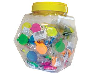 Display of 60 Assorted Retracteze ID Holders, Neon , 60 Pack