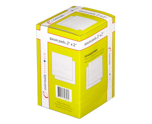 Gauze Pads, Sterile, 2 x 2, Box/100