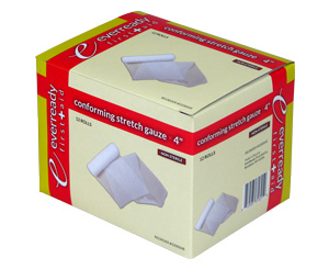 "Conforming Stretch Gauze Roll, Non-Sterile, 4"", Box/12"
