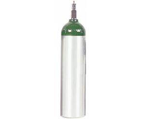 Aluminum Oxygen Cylinder, Size D w/ Toggle Valve