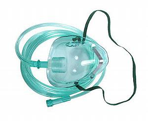 Amsino AMSure Pediatric Medium Concentration O2 Mask w/ 7' Tubing