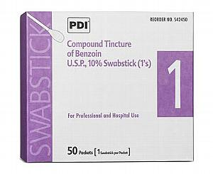 Compound Tincture of Benzoin Swabsticks, Box/50