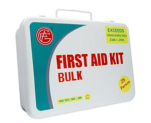 25 Person ANSI/OSHA First Aid Kit, Metal Case 2013 (discontinued, while supplies last)