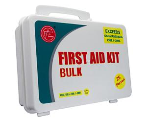 25 Person ANSI/OSHA First Aid Kit, Plastic Case 2013 (discontinued, while supplies last)