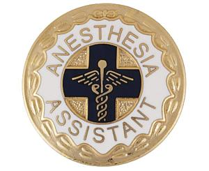 Anesthesia Assistant (Wreath Edge) Emblem Pin