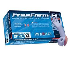 FreeForm EC Powder-Free Nitrile Exam Gloves - Medium , Box/50
