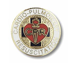 Cardio Pulmonary Resuscitation Emblem Pin