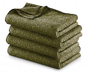 Fire Resistant Wool Military Blanket, Olive Drab