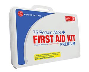 75 Person ANSI/OSHA First Aid Kit, Weather Proof Plastic Case PREMIUM