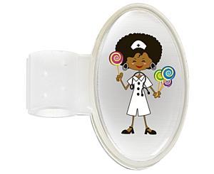 Domed ID Tag, Candy Nurse, Print