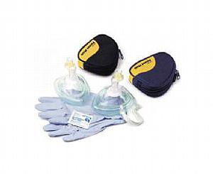 Pocket CPR Mask w/out Oxygen Inlet in Black Soft Pack