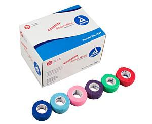 "Sensi-Wrap Self-Adherent Bandage Rolls, 1"" x 5 yds, Rainbow, Box/30"