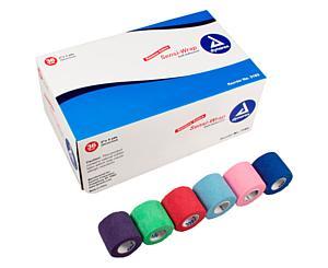 "Sensi-Wrap Self-Adherent Bandage Rolls, 2"" x 5 yds, Rainbow, Box/36"