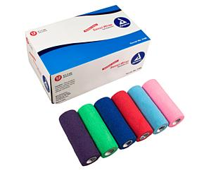 "Sensi-Wrap Self-Adherent Bandage Rolls, 6"" x 5 yds, Rainbow, Box/12"