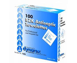 "Benzalkonium Cleansing Towelettes - 5"" x 7"" , Box/100"