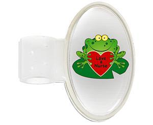 Domed ID Tag, Frog (Love a Nurse), Print