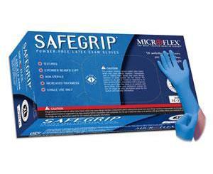 SafeGrip Powder Free Latex Exam Gloves - Small , Box/50