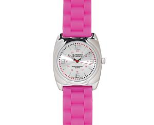 Braided Band Fashion Watch, Hot Pink