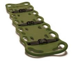 LAERDAL BAXSTRAP SPINEBOARD, OLIVE GREEN