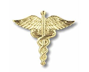 Caduceus Emblem Pin