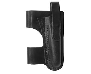 Horizontal Belt Leather Holster, Black