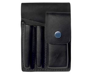 Square Paddle Leather Holster, Black