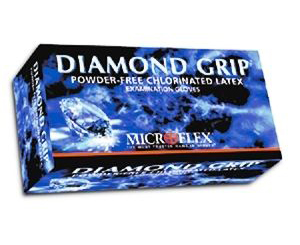 Diamond Grip Latex Exam Gloves - Large , Box/100