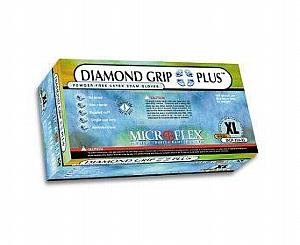 Diamond Grip Plus Latex Exam Gloves - Medium , Box/100