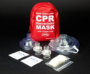 Adult & Infant CPR Mask Combo Kit w/ 2 Valves