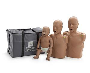 CPR/AED Training Manikin Family Pack, Dark Skin