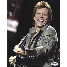 Jon Bon Jovi Live w/ Guitar Signed 8x10 Photo Certified Authentic PSA/DNA COA
