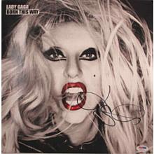 Lady GaGa Signed Born This Way Record Album LP Certified Authentic PSA/DNA COA
