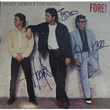 Huey Lewis and The News Signed Record Album LP Certified Authentic JSA COA & GA